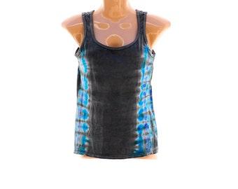 Tie Dye Ladies Tank Top, Summer Festival Clothing, Hippie Tank, Trippy Top