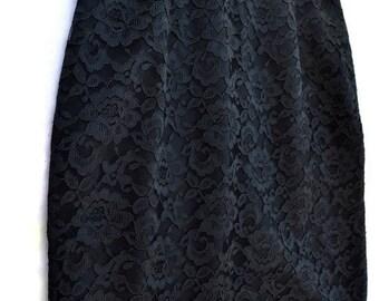 Black Lace Skirt Medium Large M L