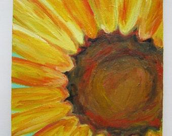 "Original Sunflower Painting, 8x10"" Sunflower Acrylic Painting, Sunflower Art, Sunflower Painting"