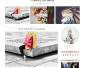"Blogger Template Responsive ""Pastel Dreams"" // Pastel Beauty Blogger Premade Blog Blofspot Theme Design"