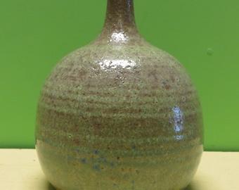 """Original 1961 Modernist Stephen Polchert Art Pottery Bottle Vase 5 3/4"""" - Free Shipping"""
