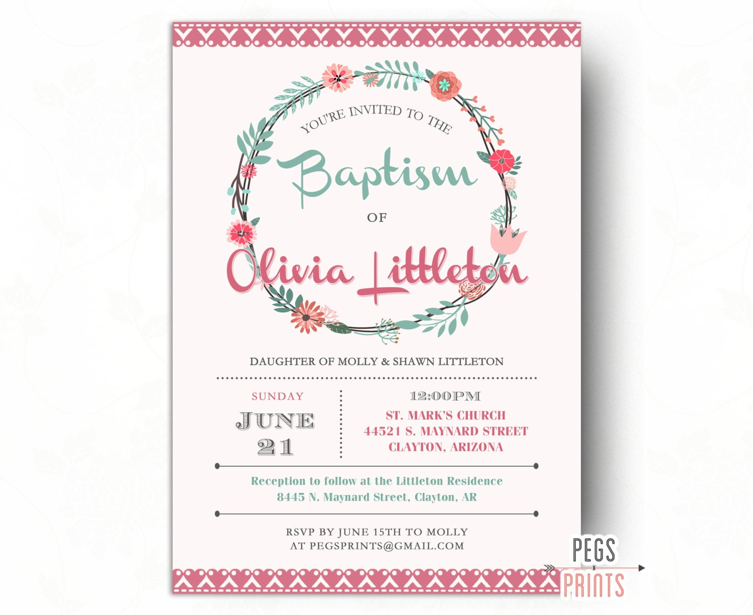 Genius image pertaining to printable baptism invitations