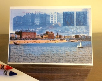 A greeting card 'Brighton Seafront'