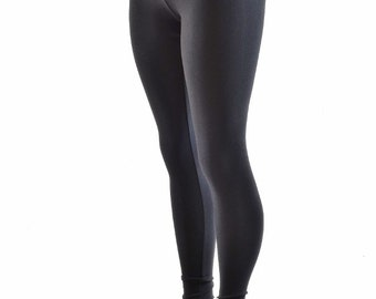 Black Zen Soft Knit High Waist Leggings -152217