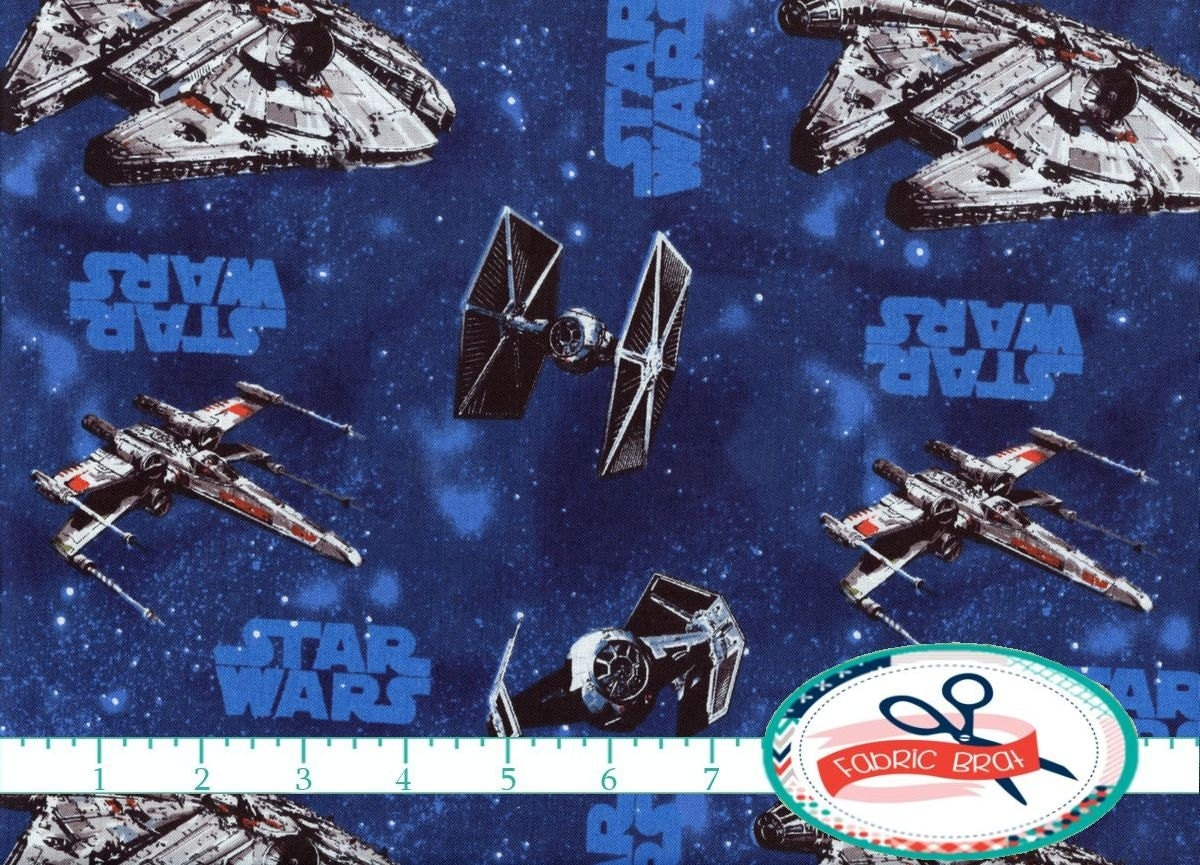 STAR WARS Fabric by the Yard Fat Quarter Licensed by ...
