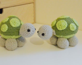 Cute little crochet turtle - made to order