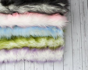 RTS - NEW Frost Faux Fur Photography Prop Soft, Cozy Faux Fur Nest Newborn Posing Photography Prop Stuffer, Layering Ready to Ship 18 Colors