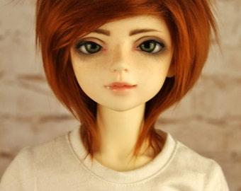 BJD Red Brown Fur wig (Choose you size)