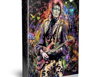 David Bowie Canvas, Bowie Original, Ziggy Stardust Canvas Art Print