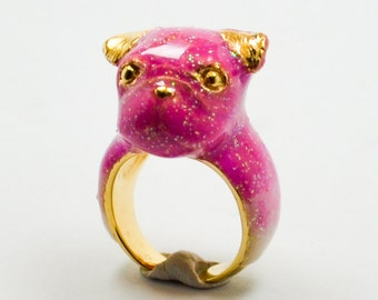 Ruby Pug Ring