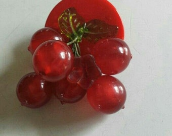 40s cherries pin reproduction *signed*