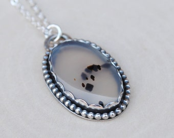 Montana Agate Necklace - Sterling Silver Montana Agate Jewelry