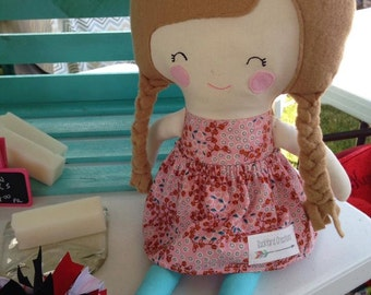 Handmade Fabric Doll - Aaelyn