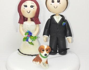 Wedding cake topper, custom wedding cake topper, pet cake topper
