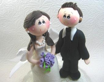 Custom wedding cake topper, elegant wedding cake topper, romantic cake topper,  bride and groom cake topper