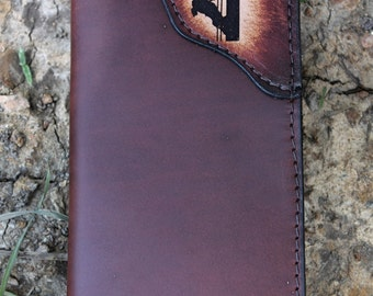 LINEMAN  checkbook wallet, Personalized wallet,  roper wallet, lineman gift, leather checkbook wallet, Name or Initials Engraved Free!