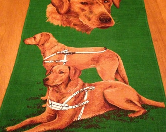 Labrador Linen Hanging Printed for the Guide Dogs for the Association for the Blind