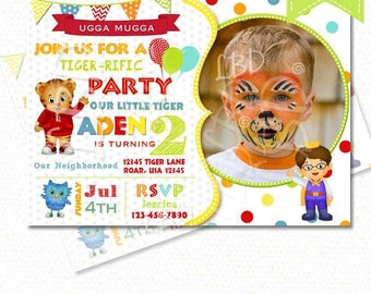 Daniel Tiger Invitation, Daniel Tiger Birthday Invitations, Daniel Party Invite Printables- ANY AGE, Style 2 You Print