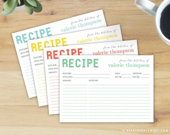 Personalized recipe cards | Etsy