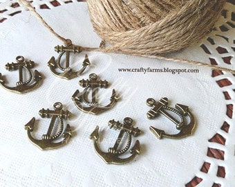 Vintage Anchor Charms Embellishment (Set of 25)