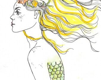 Sea Queen | 8x10 Watercolor Print