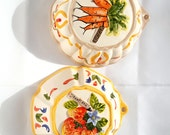 Kitchen Molds, Ceramic Molds, Hanging Molds, Strawberry Mold, Carrot Mold, Kitchen Decor, Jello Molds, Wall Hanging, Ceramic Decor