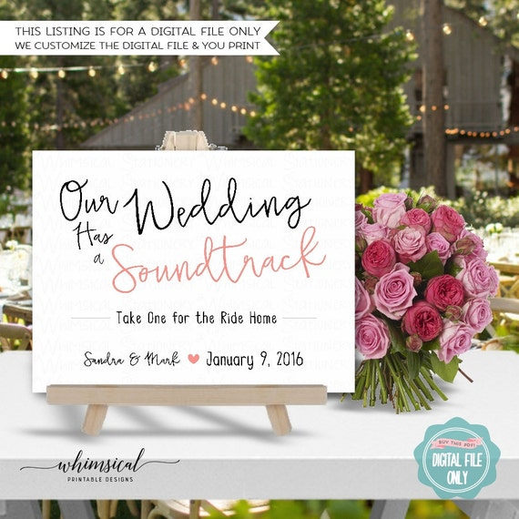 Wedding Soundtrack CD Sign Wedding Simple Words White – Simple Listing Words