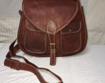 Cross Body Purse, brown leather, cross body, saddle bag purse, shoulder bag