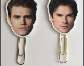 Men of TVD Paperclips! Perfect for Planners, Notebooks, Flipbooks and Pocket Letters!