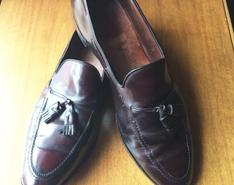 Vintage Allen Edmonds Grayson Color 8 Shell Cordovan Tassel Loafers 16B