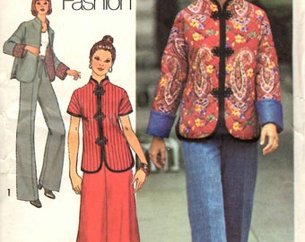 Simplicity 7224 Chinese Style Jacket Skirt and Pants Sewing Pattern