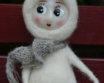 Lutin vintage en laine feutrée