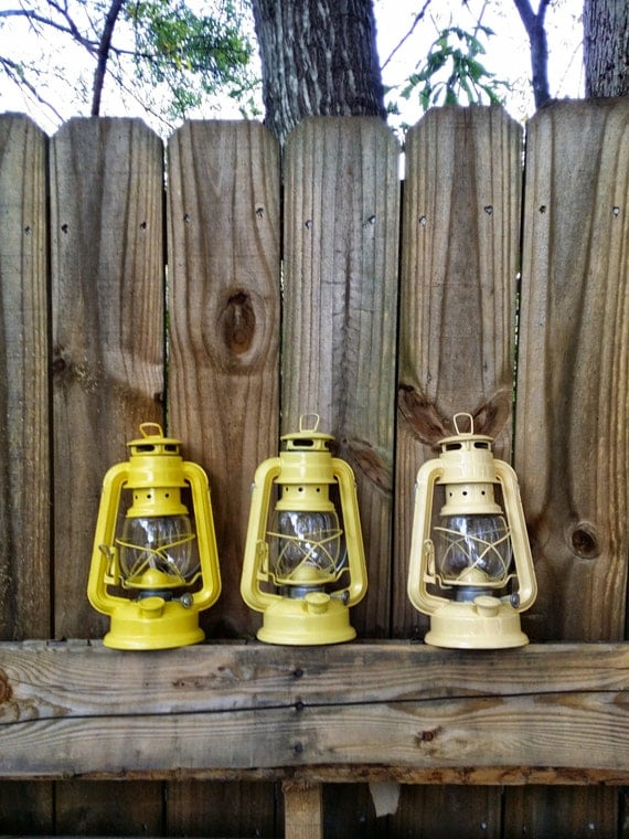 Yellow Rustic Lantern Shabby Chic Home Decor by ...