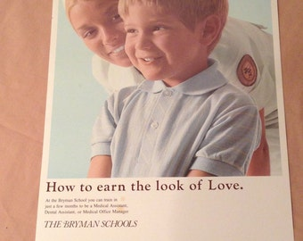 Vintage  1980s The Bryman School Poster Collectibles, Nursing, Dental