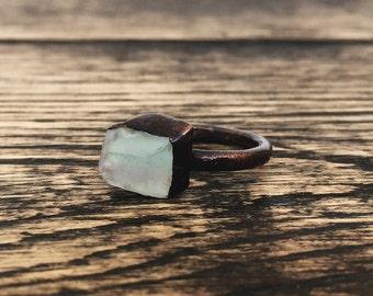 Fluorite ring Raw Fluorite ring Raw crystal ring Mineral ring Gemstone ring Crystal ring Raw gemstone ring Raw stone ring Copper ring Boho
