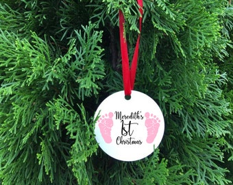 baby's first christmas ornament // first christmas // personalized gift // baby first christmas // christmas ornament // baby ornament