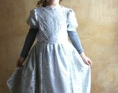 Silver princess dress for 6 years old  little lady READY to SHIP
