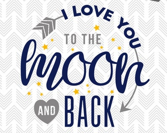 """Shop """"to the moon and back"""" in Craft Supplies & Tools"""