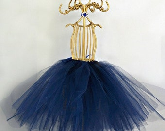 Tutu Centerpiece, Gold Tutu Mannequin, Navy Blue Bridal Shower Tutu, Ballerina Centerpiece, Royal Wedding Decor, Primcess Mannequin
