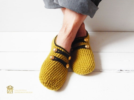 Military slippers, Army slippers, Men slippers, Slippers for men, Gift for men, Sock slippers, Healthy gift, Father gift, Crochet slippers