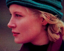 DIY Knitted Corrugated Toque Style Hat PDF Vintage Knitting Pattern