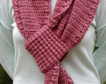 Crochet Pattern - Scarf Pattern Womens Crochet Scarf Pattern DIY Scarf Womens Crochet Pattern Easy Crochet Scarf - Gathered Buds Scarf P148