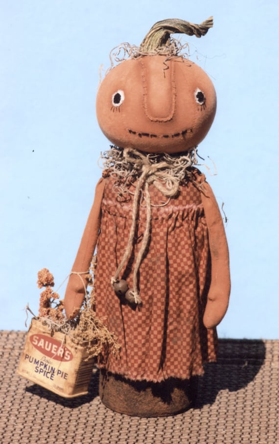 Primitive PATTERN Sweet Canned Pumpkin Girls from ...