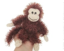 Monkey toy - stuffed toy - amigurumi monkey - cute plushie -knitted monkey