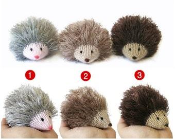 Hedgehog mini stuffed animal, kawaii plush, woodland animal, decoration tiny cute knitted hedgehog, amigurumi hedgehog, gift for girl