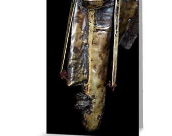 African Art Greeting Card 4x6 or 5x7.5 - Blank Inside / Marka Face Mask / Orig Fine Art Photography