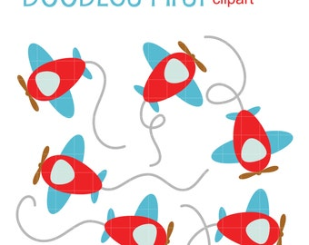 Toy Airplanes for Scrapbooking Card Making Cupcake Toppers Paper Crafts