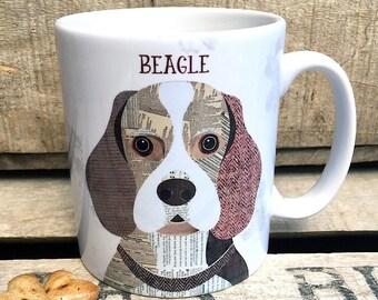 Beagle personalised dog mug