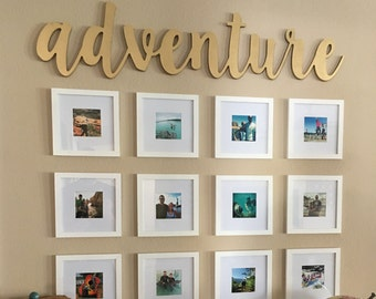Family cnc wooden word cut out wood letters cut out adventure wooden cnc cut out wall art spiritdancerdesigns Gallery