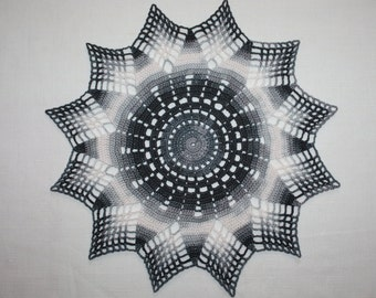 OOAK Crochet Doily Multicolored Lace Doily Round Doily